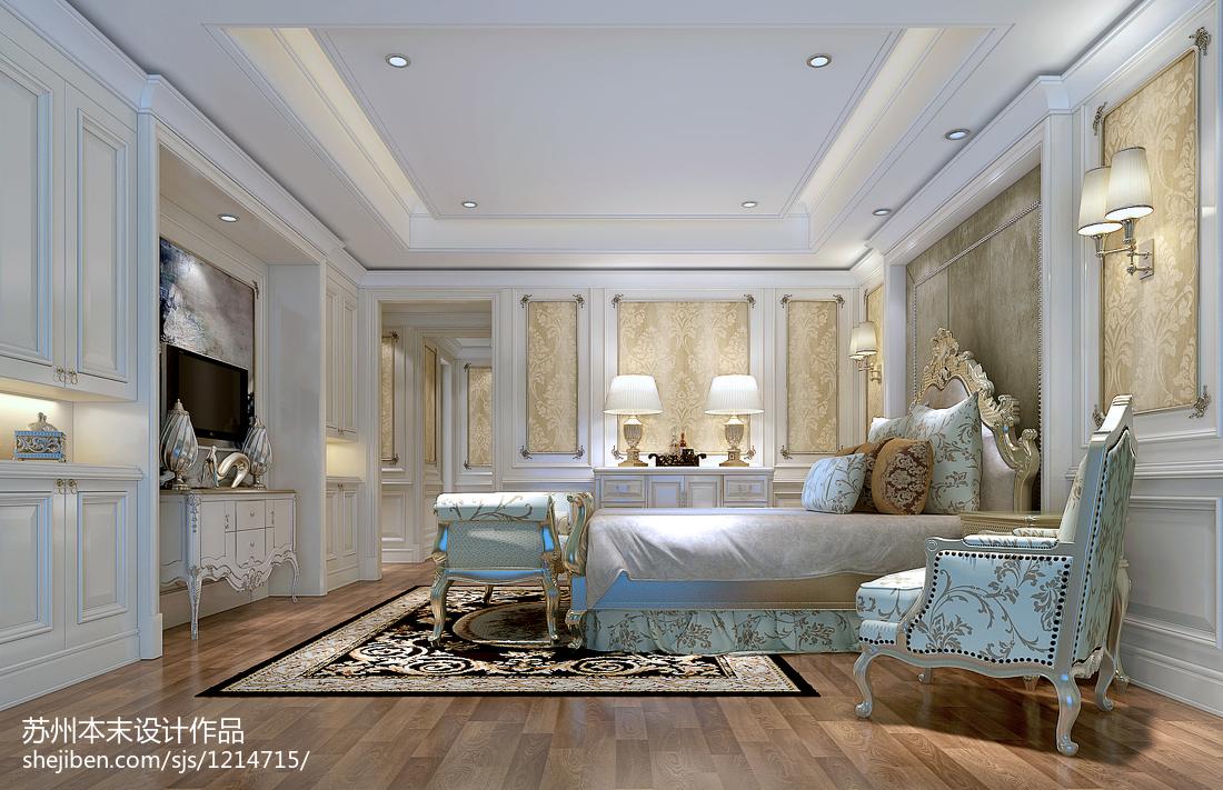 精美面积122平别墅卧室美式效果图片大全