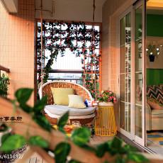 悠雅89平现代三居阳台实拍图