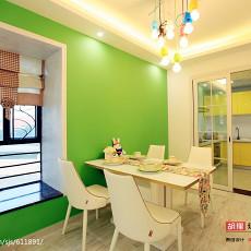 温馨126平现代三居餐厅实景图
