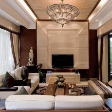 热门面积120平别墅客厅东南亚效果图片欣赏