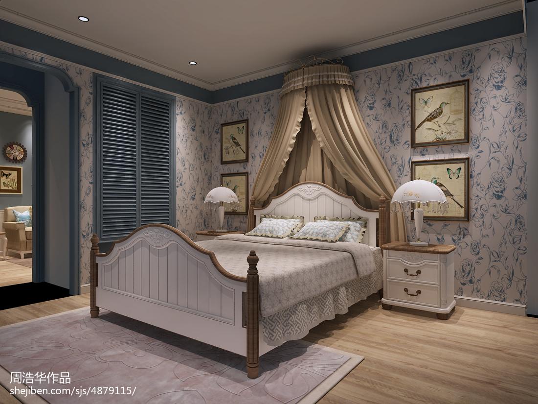 精美77平米田园小户型卧室效果图