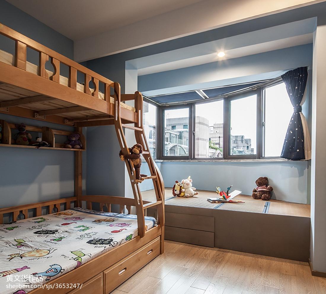 現代兒童房窗臺榻榻米設計