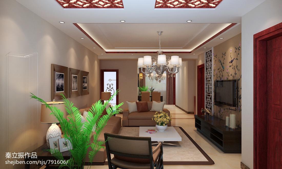 中式客厅简装装修效果图