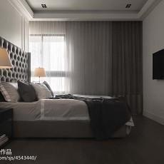 精美90平米三居卧室现代欣赏图
