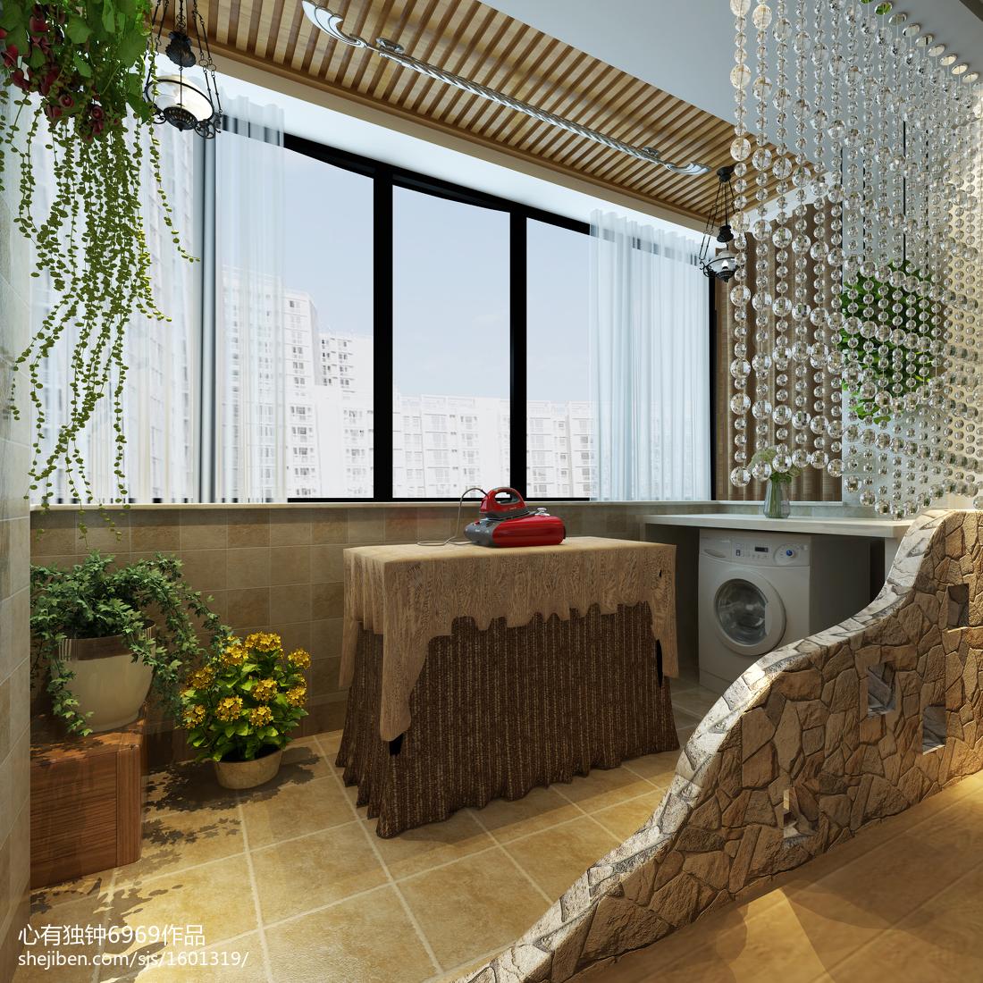 热门70平米现代小户型阳台装修设计效果图片欣赏