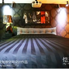 面积119平复式卧室混搭装修实景图片