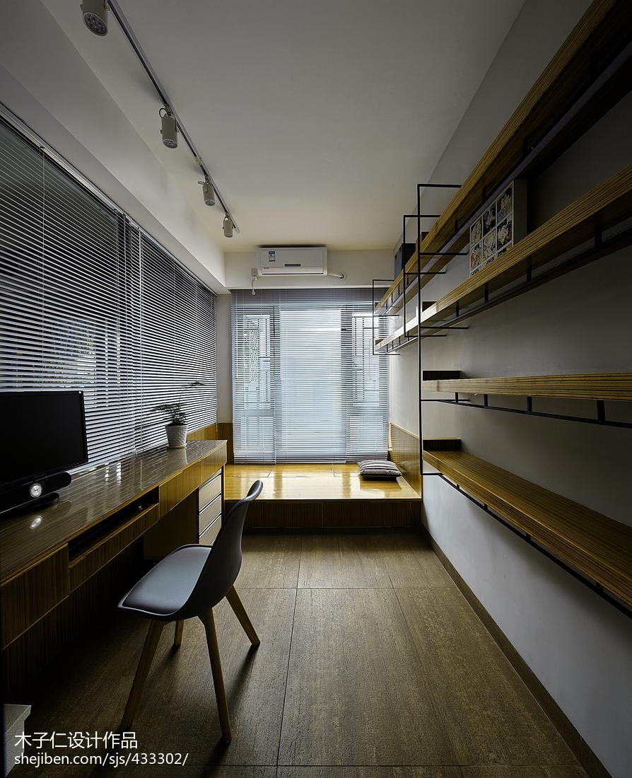 混搭風格豪宅書房榻榻米裝修設計