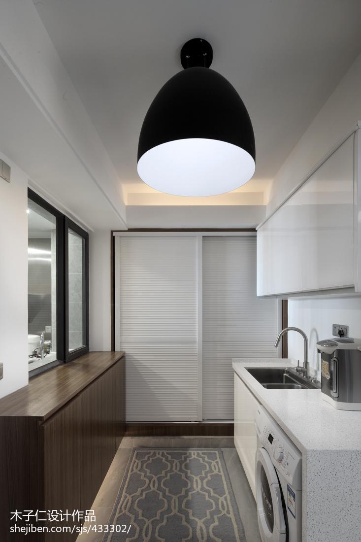 简约混搭风格厨房窗户效果图