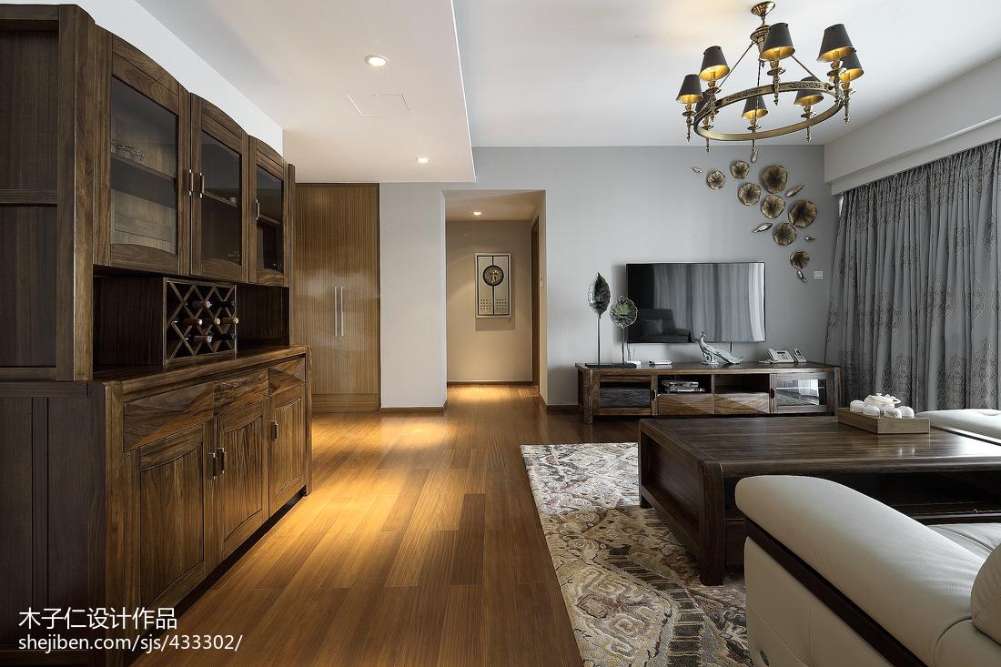 优美266平中式样板间客厅案例图
