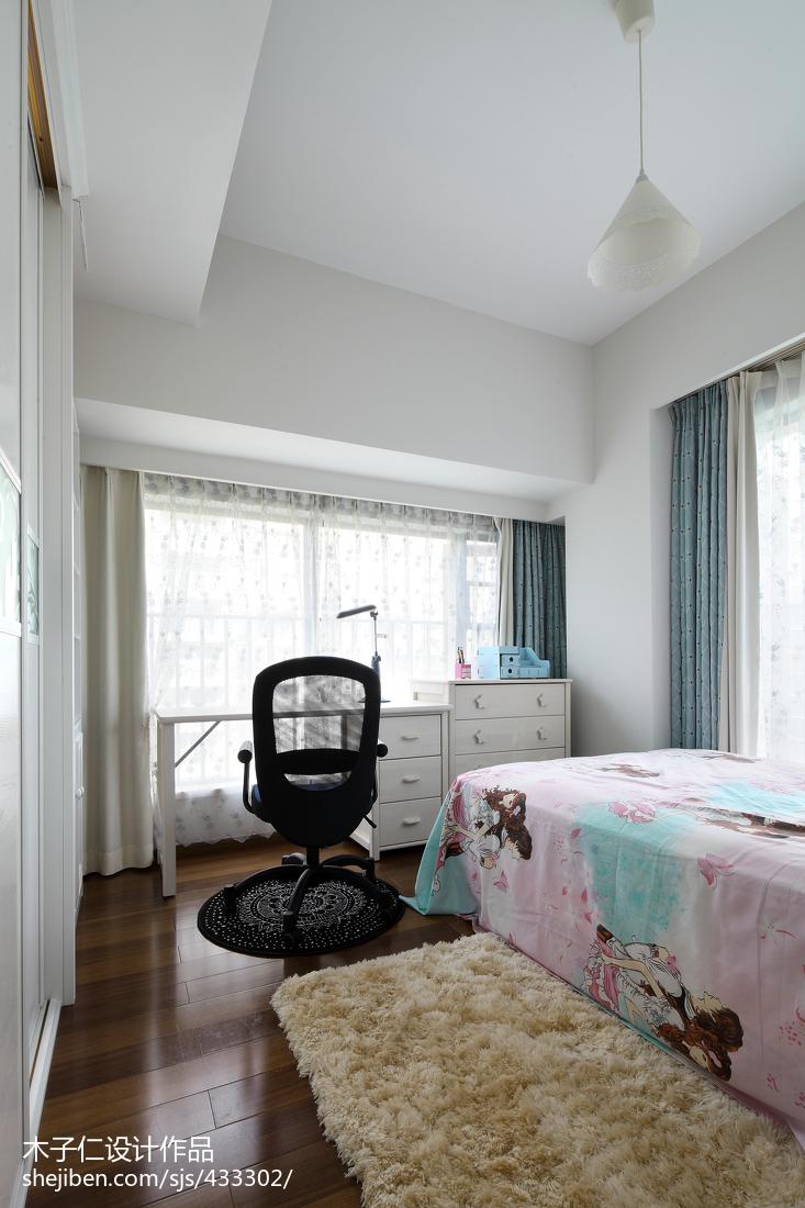 轻奢335平中式样板间卧室设计图
