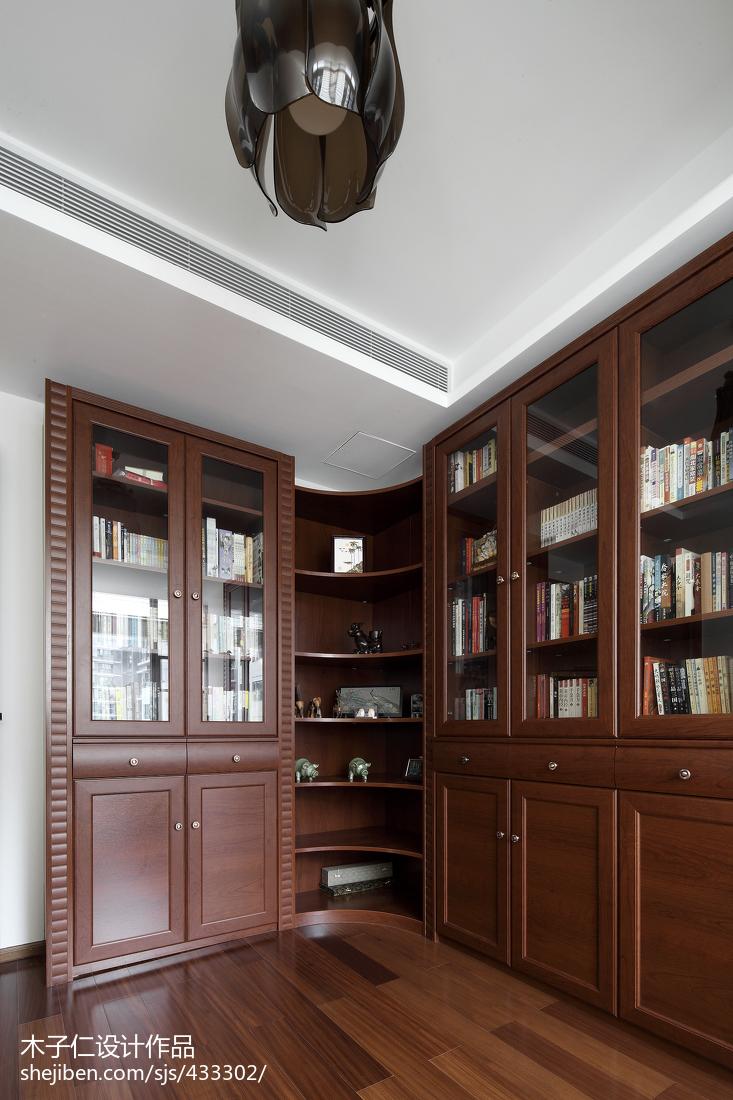 精选中式书房设计效果图