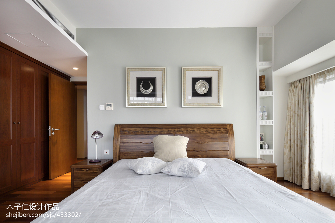 大气270平中式样板间卧室装饰图片