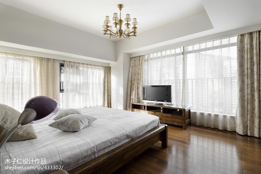 轻奢290平中式样板间卧室设计案例