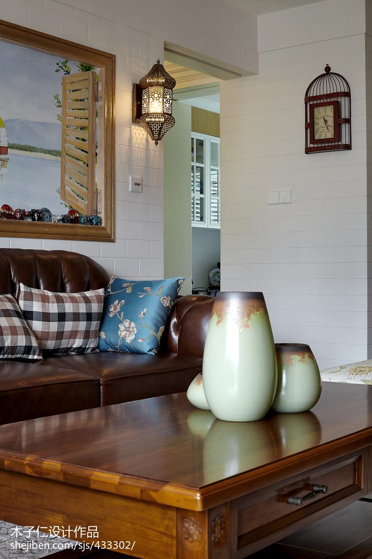 典雅346平田园样板间客厅装修美图