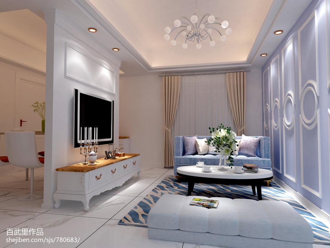 精美81平米欧式小户型客厅装修效果图片大全