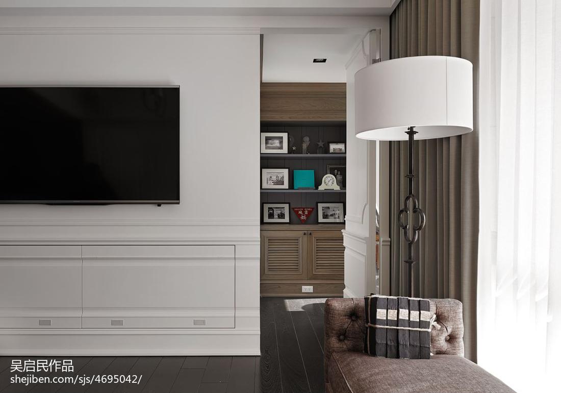 精选面积125平美式四居客厅装修实景图片