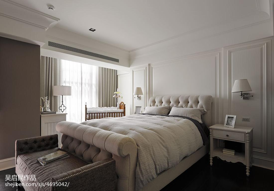 精选大小125平美式四居卧室装修效果图片