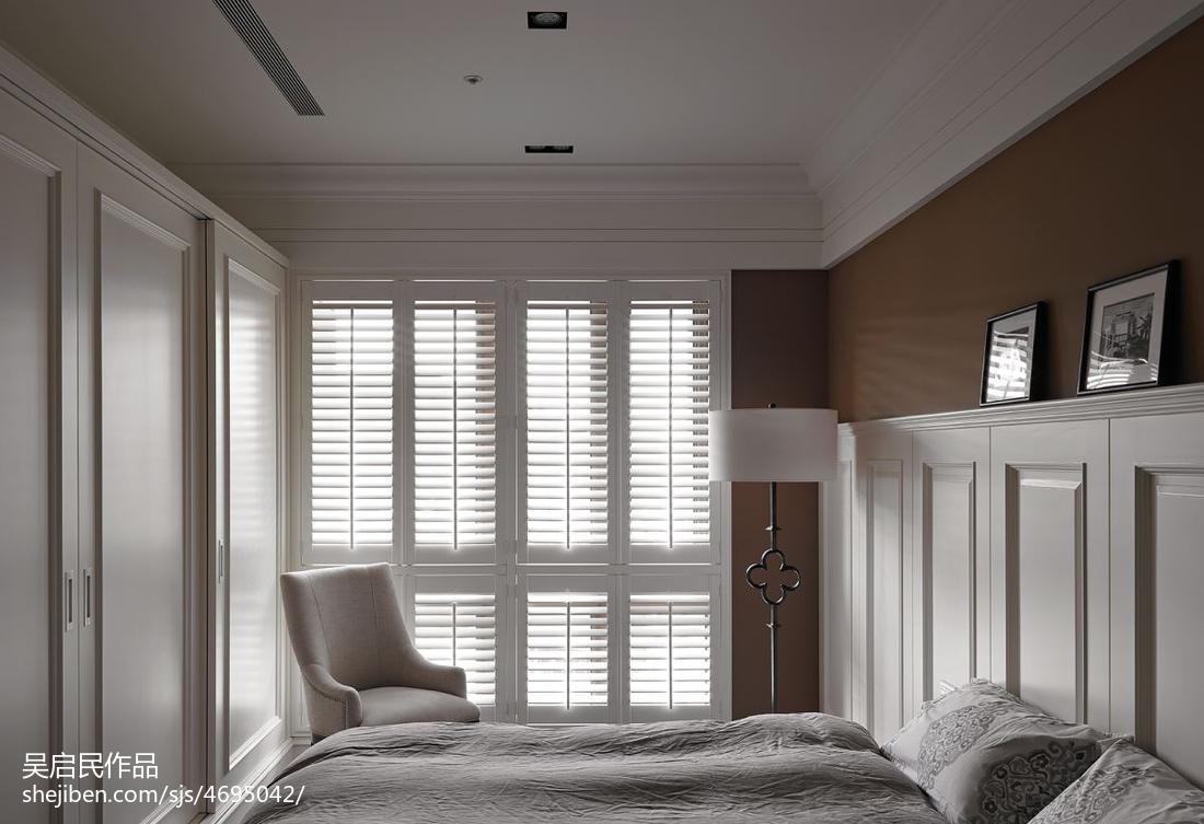 精选面积111平美式四居卧室装饰图