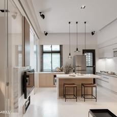 热门面积74平小户型厨房现代装修实景图