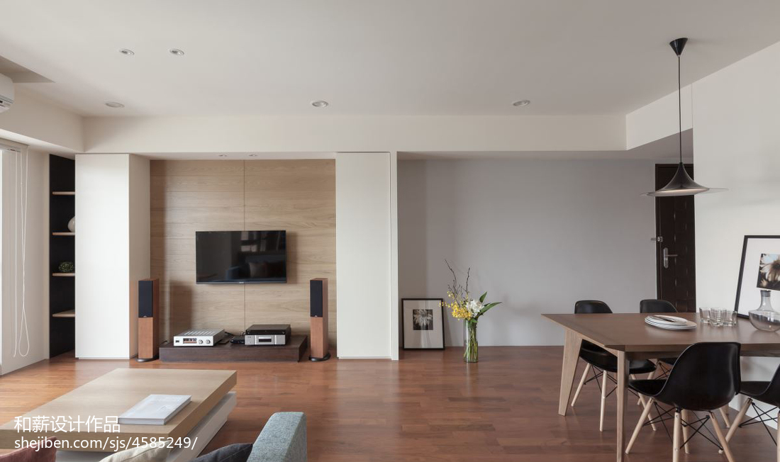 2018混搭客厅二居设计效果图