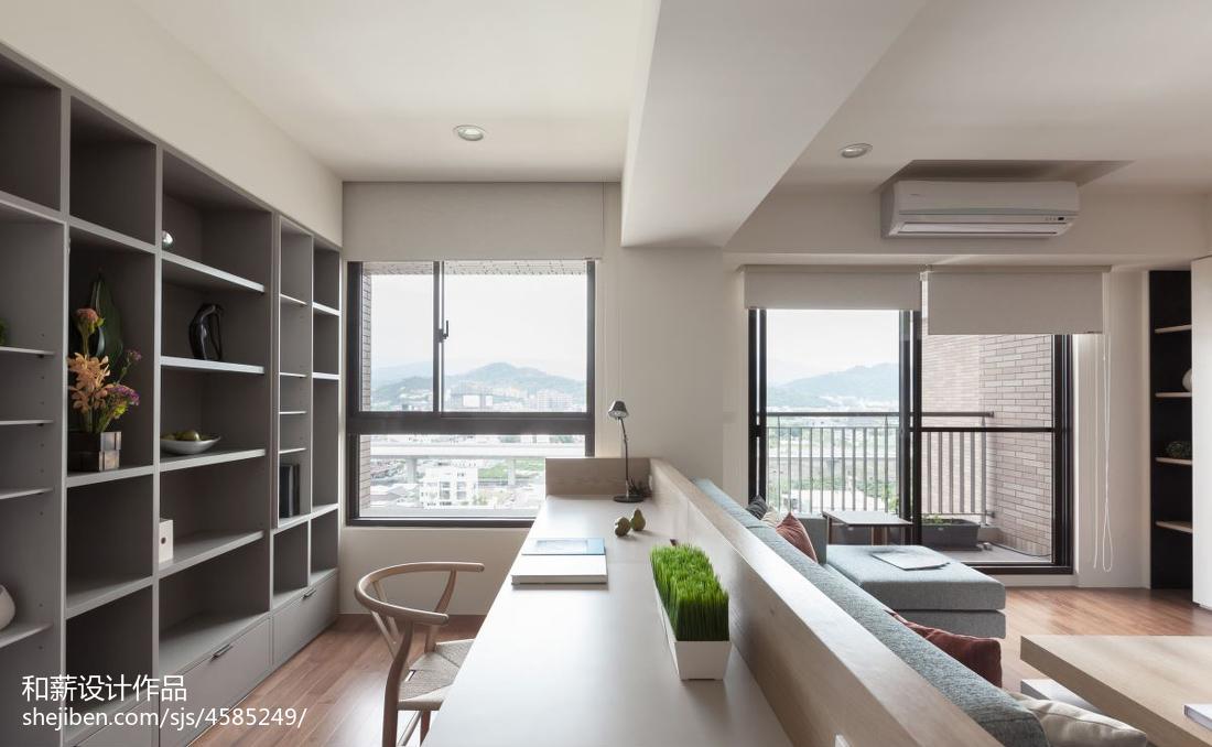 2018精选81平米二居书房混搭装修实景图片