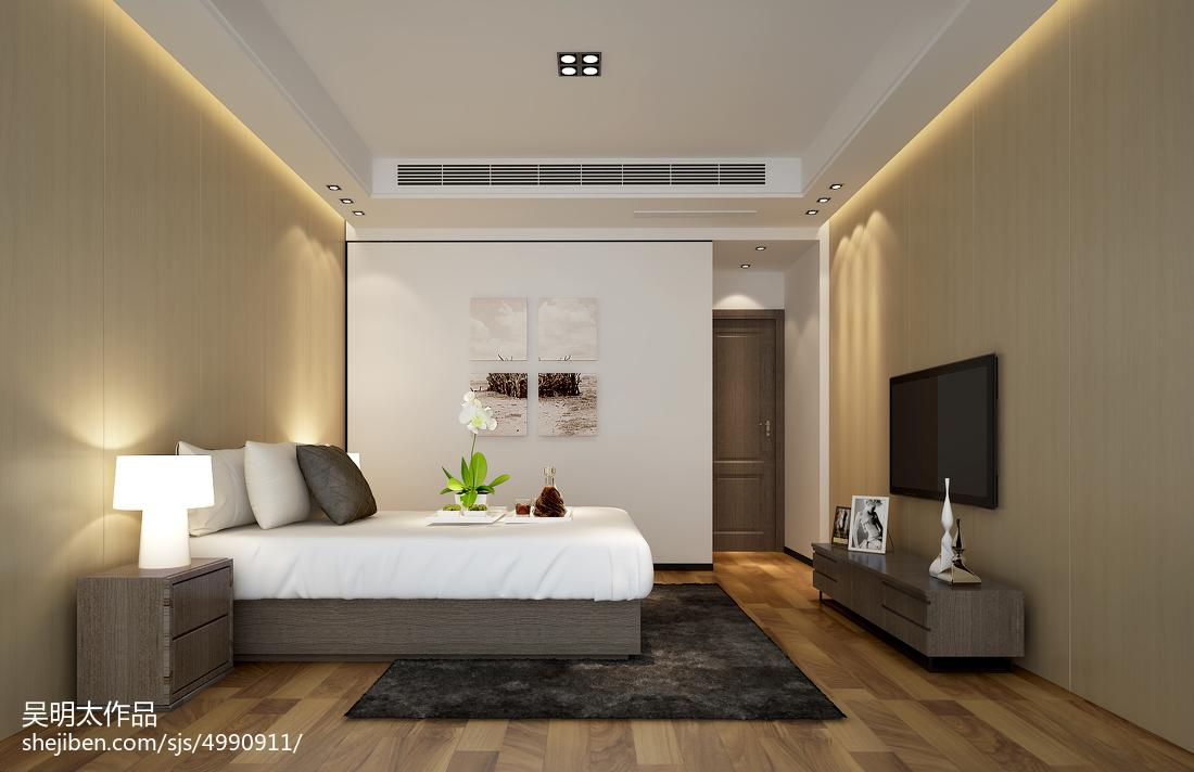 热门大小112平别墅卧室中式装修实景图片欣赏