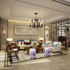 129平米中式别墅客厅装饰图片