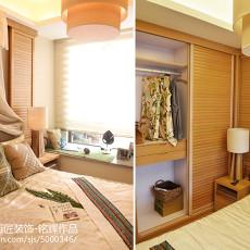 热门97平米三居卧室东南亚效果图片