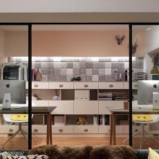 热门104平米三居书房混搭装修效果图片