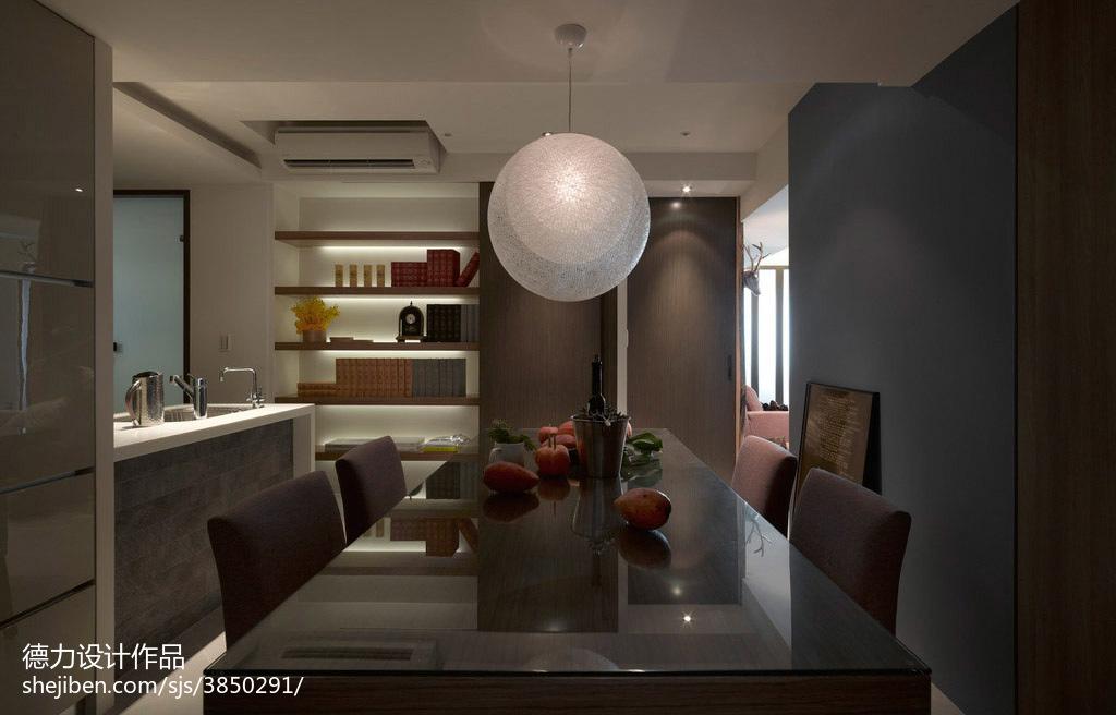 2018102平米三居餐厅混搭设计效果图