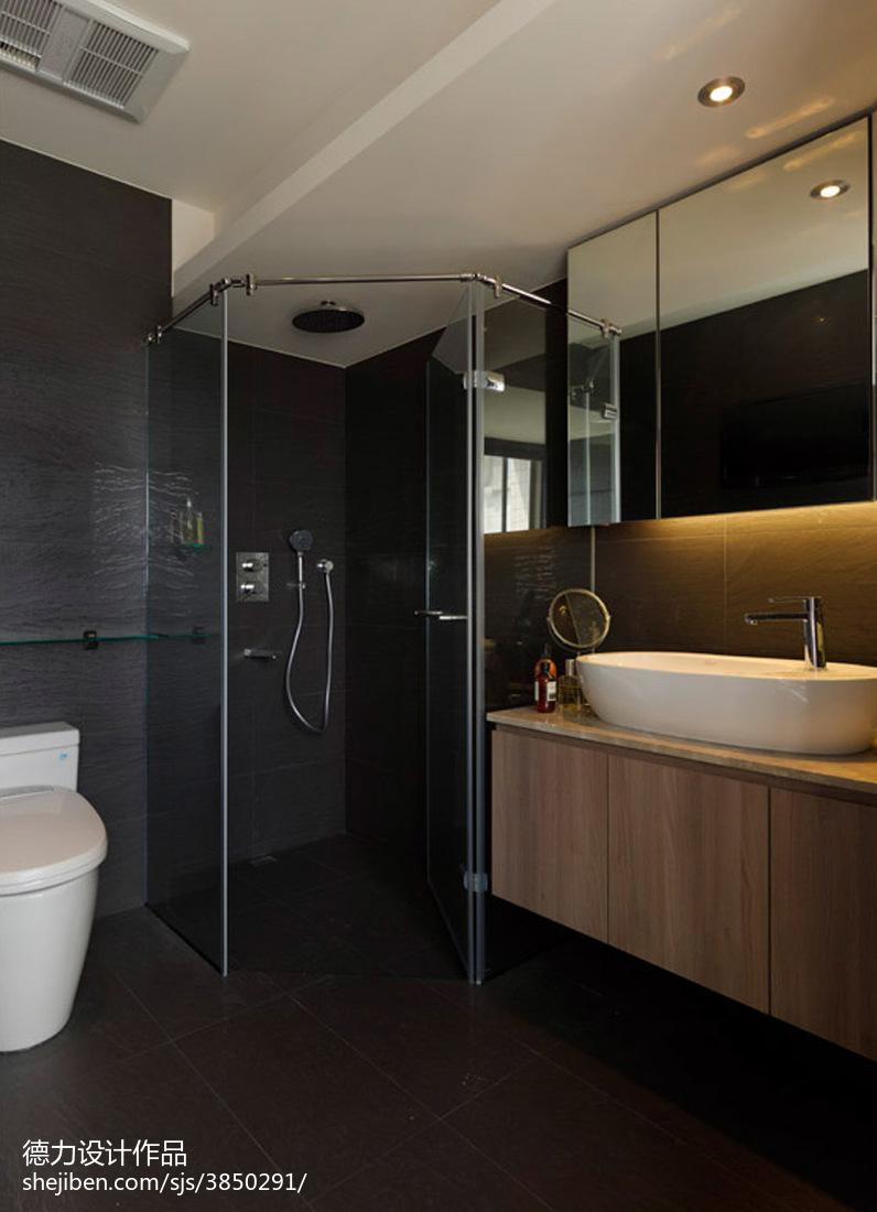 105平米三居卫生间混搭装修设计效果图片欣赏