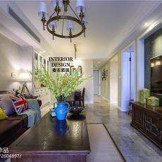 精美81平米二居客厅美式装饰图片