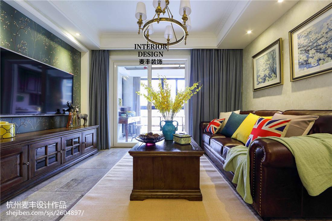 简约美式客厅软装效果图