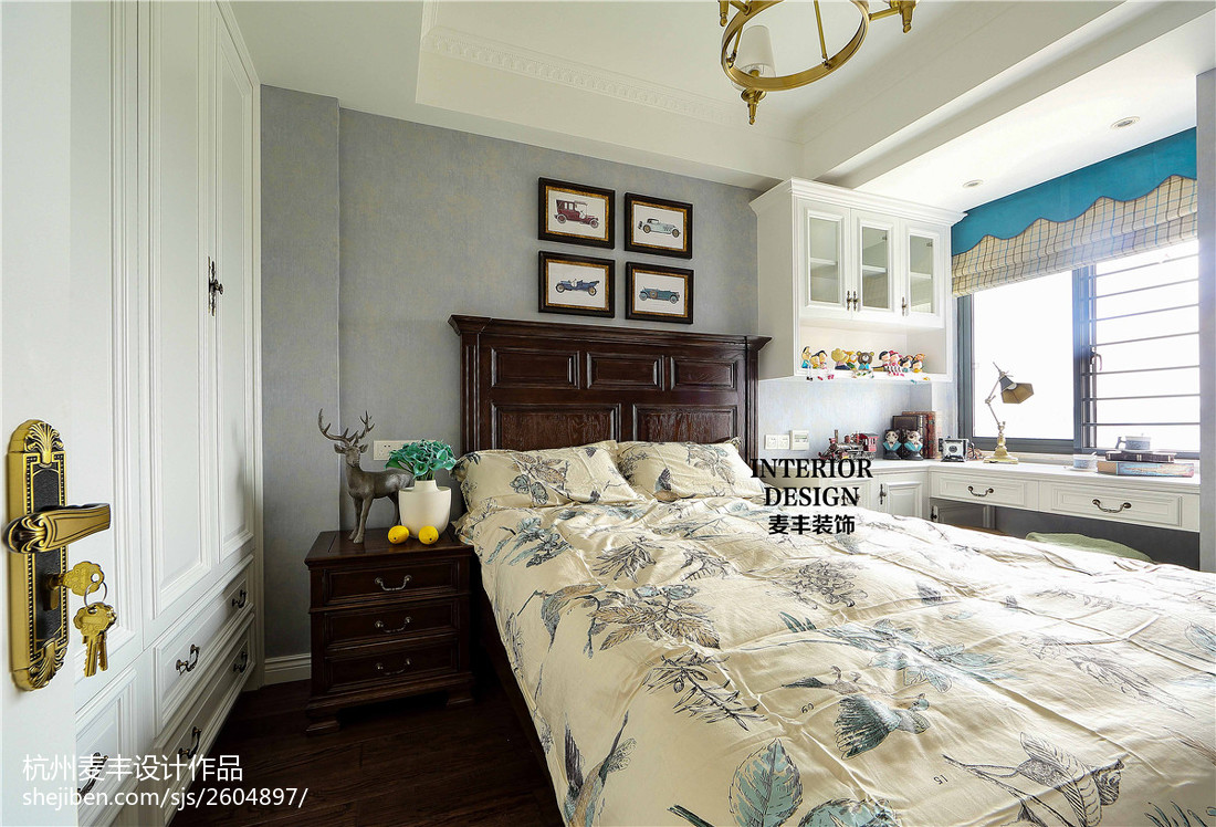 热门二居卧室美式装饰图