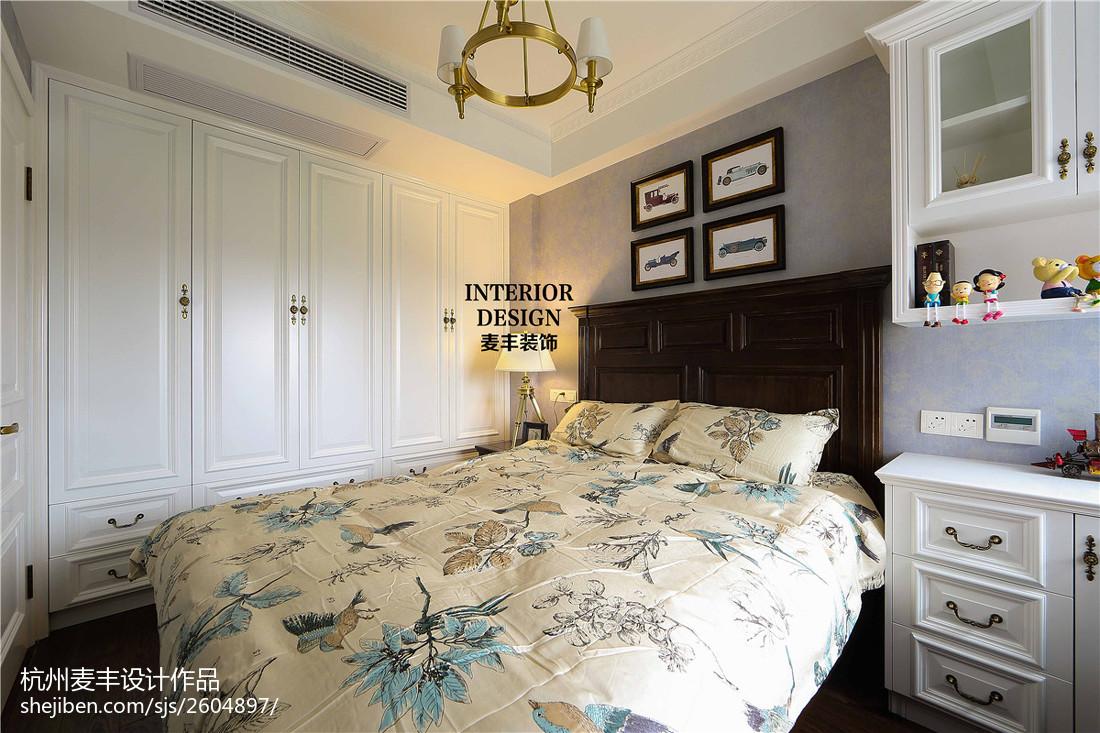 精选面积81平美式二居卧室装修实景图片欣赏