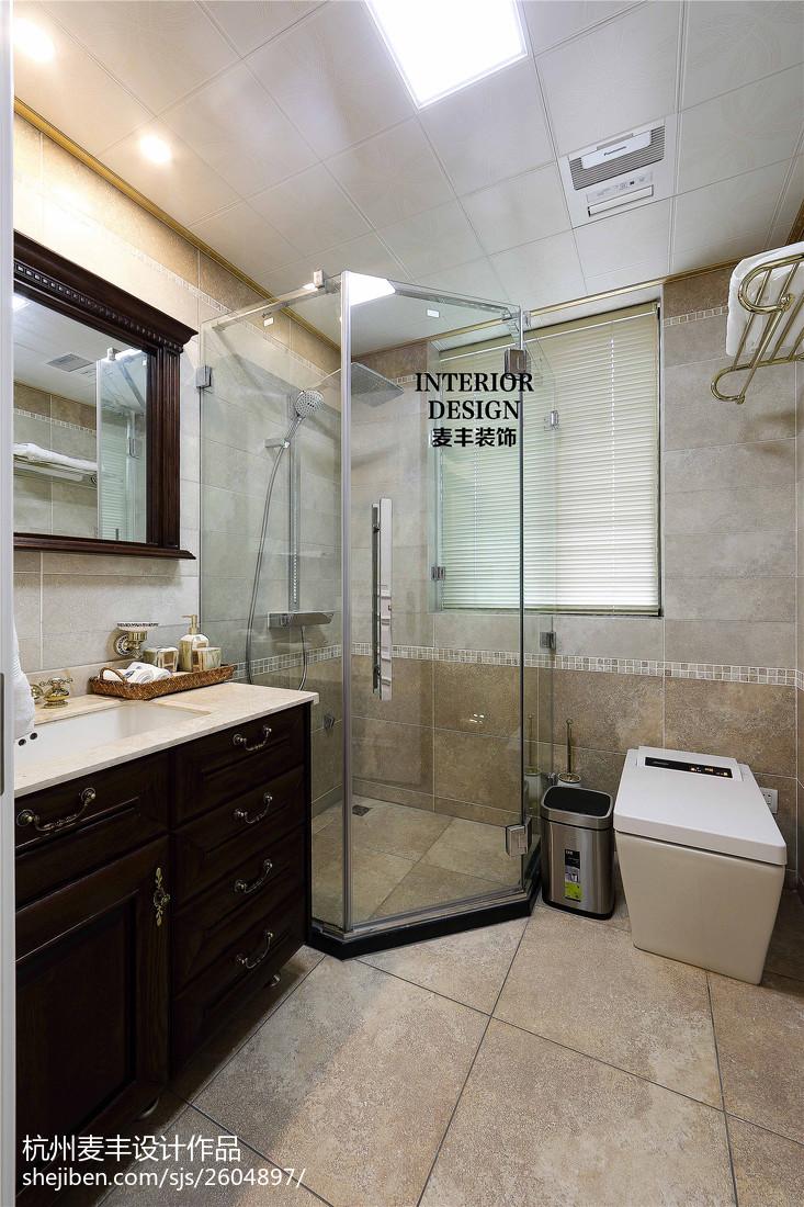 简约美式卫生间淋浴房效果图