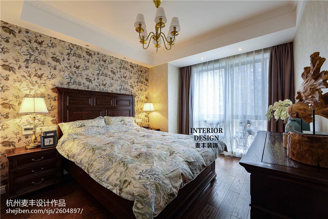 精选面积82平美式二居卧室效果图片