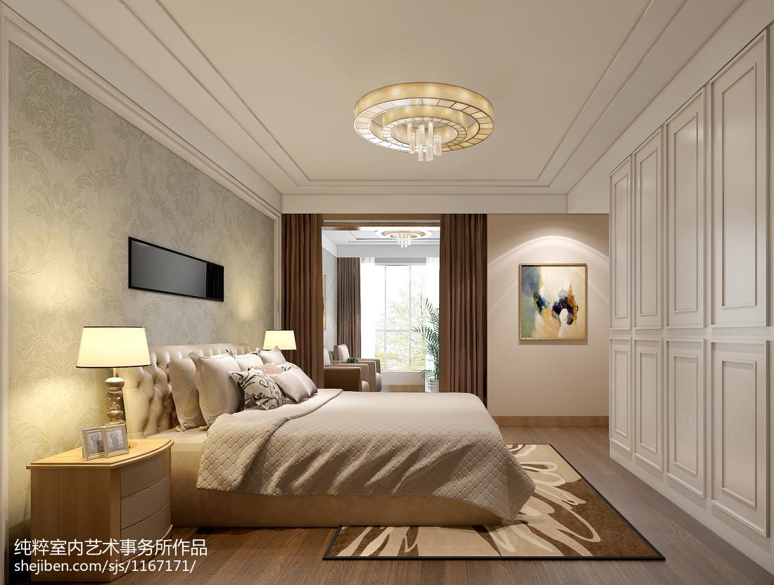 热门面积131平混搭四居卧室装修实景图片