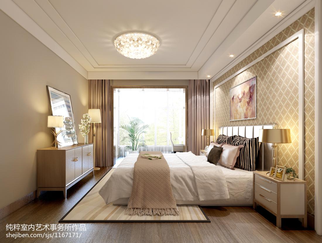 精美127平米四居卧室混搭装饰图