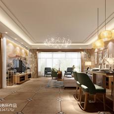 精选121平方四居客厅混搭装修实景图