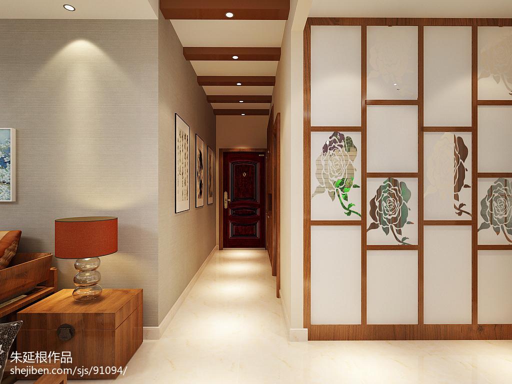 2018精选105平方三居客厅中式装修图