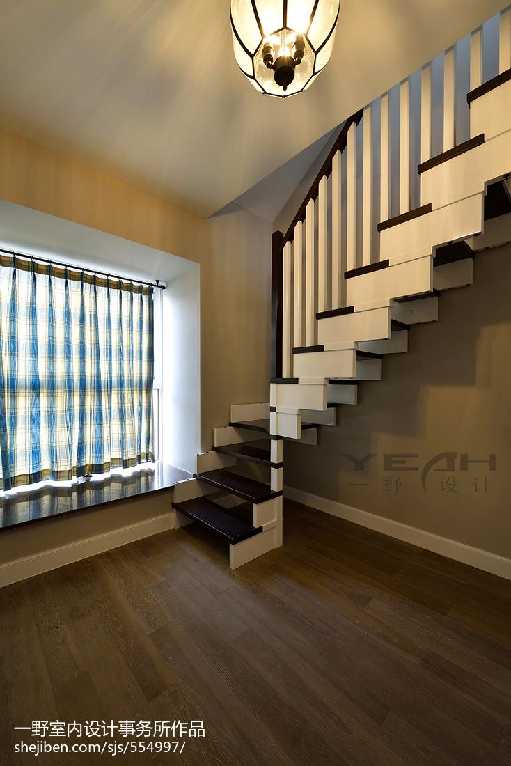 復式樓美式樓梯窗戶裝修設計