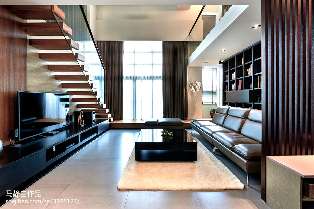 精美77平方二居客厅混搭效果图片欣赏