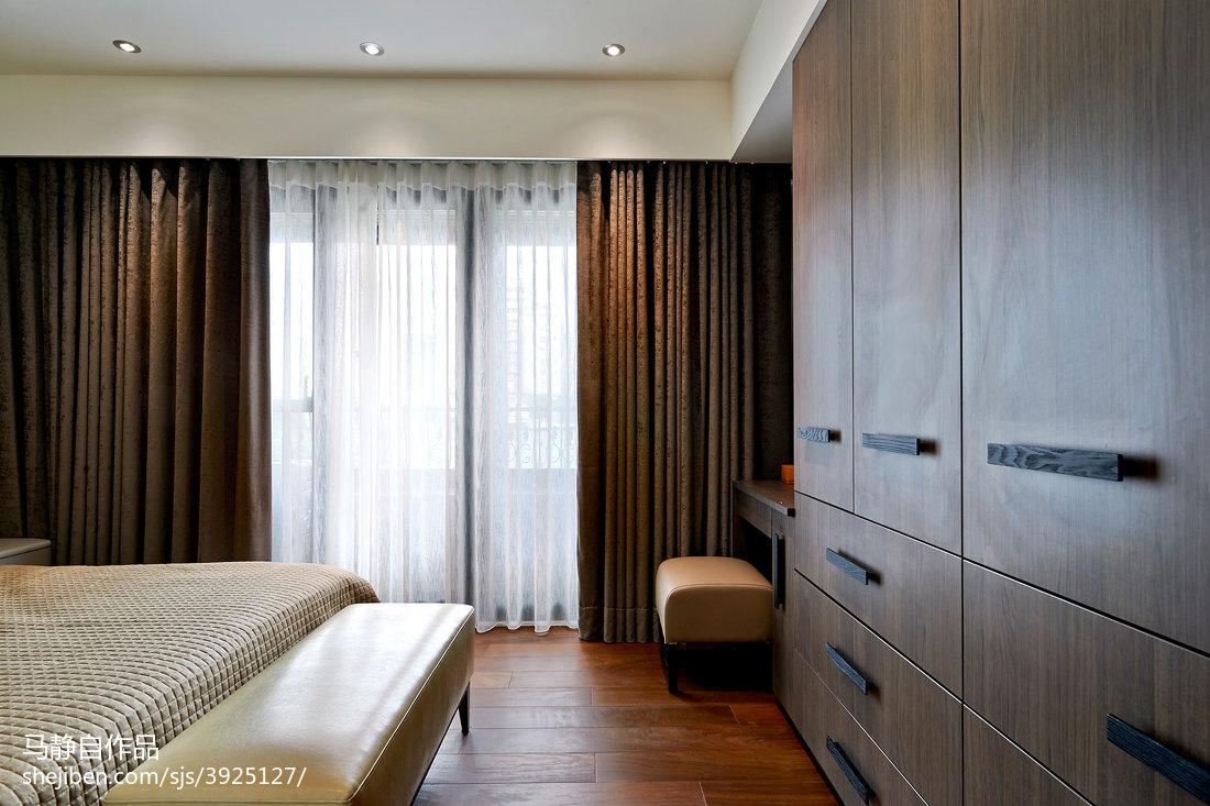 精选面积90平混搭二居卧室装修设计效果图