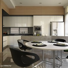 2018精选面积138平现代四居餐厅装修设计效果图片欣赏