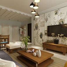 2018107平方三居客厅美式装修效果图片大全