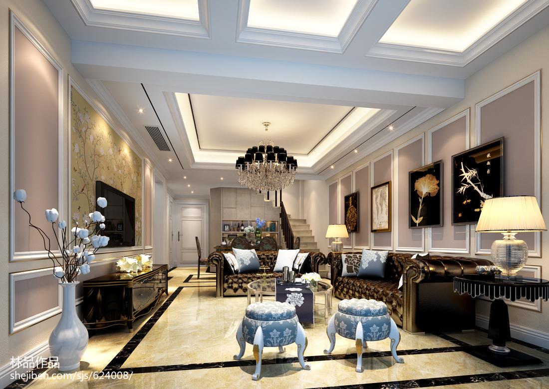 热门复式客厅欧式实景图片欣赏