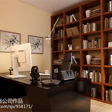 热门欧式三居书房效果图片