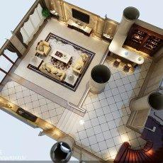 面积130平别墅客厅欧式欣赏图片