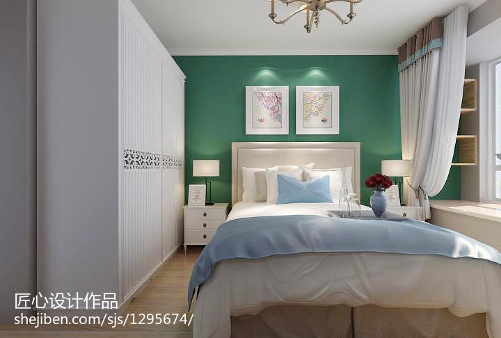 2018面积77平混搭二居卧室装修设计效果图片大全